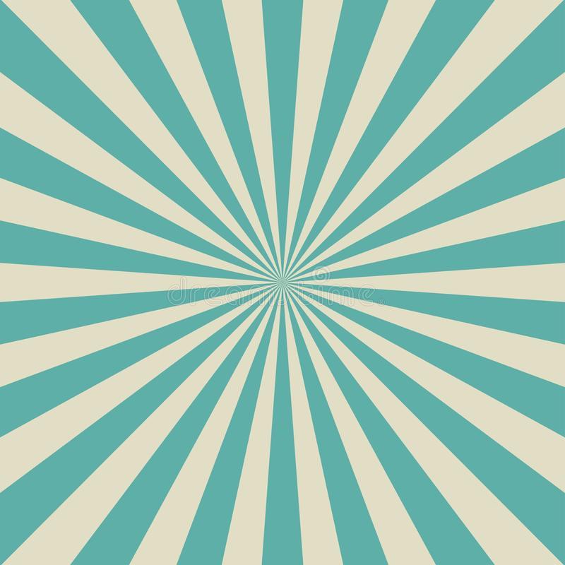 Sunlight retro faded background. Aquamarine blue and beige color burst background. Fantasy Vector vector illustration