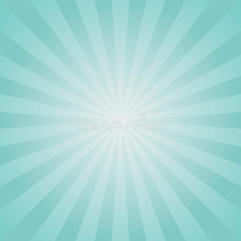 Sunlight retro faded background. Pale blue color burst background. Fantasy Vector illustration. Magic Sun stock illustration