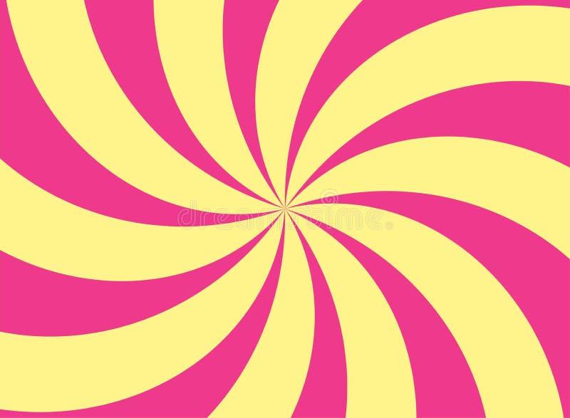 Vintage Burst Ashtray Yellow and Pink