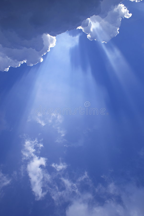 Sunlight Shining Through Clouds Stock Image - Image of ...