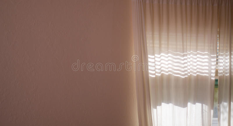 Download Sunlight Shining Through Curtains And Blank Wall Stock Image    Image Of Wall, Curtains