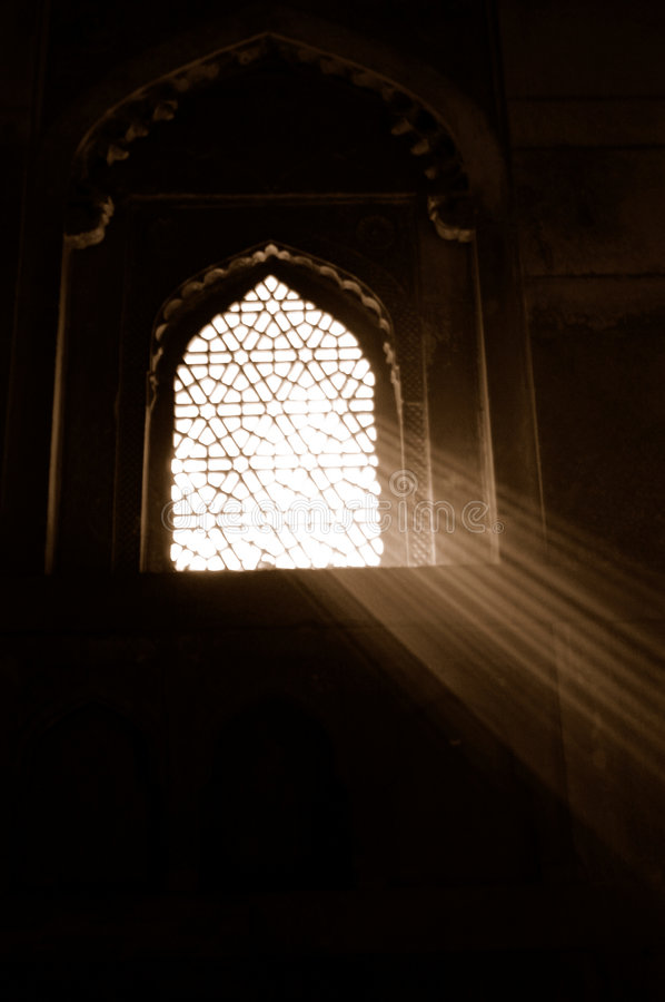 Free Sunlight Through Ornate Window Royalty Free Stock Images - 3519569