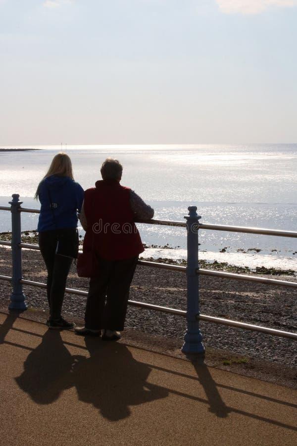 Sunlight on water, Morecambe Bay, Morecambe, UK royalty free stock photography