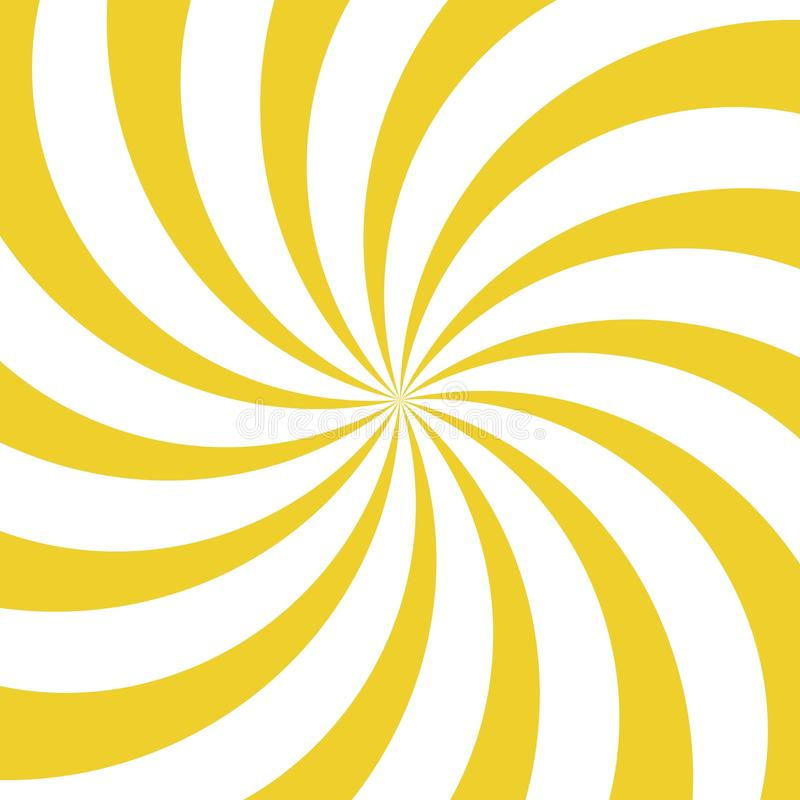 Sunlight whirl background. yellow and white color burst background. Vector illustration stock illustration