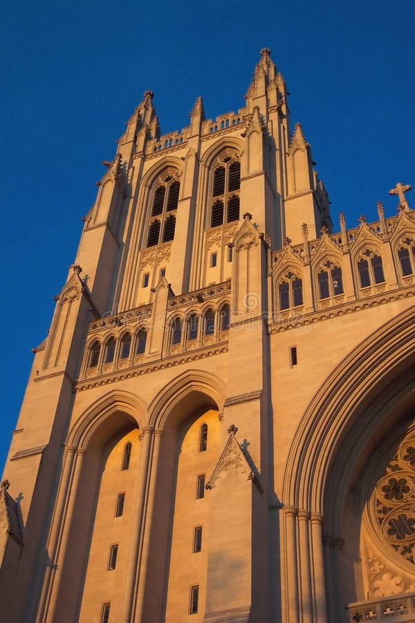 Download Sunlit Cathedral Tower stock image. Image of sunset, worship - 28441