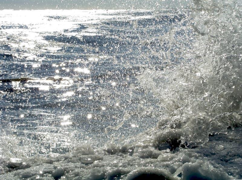 sunlit icy kust 11 royaltyfri fotografi