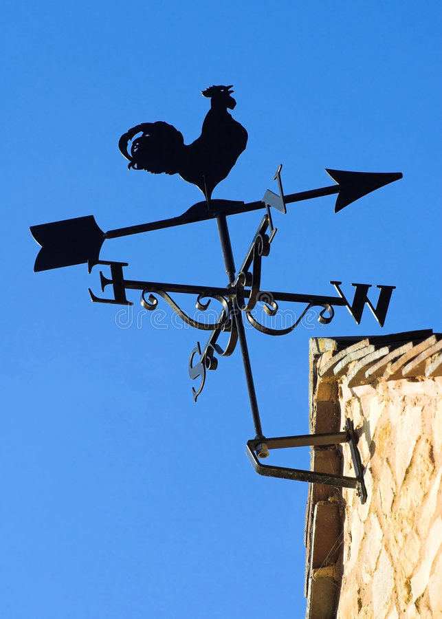Download Sunlit Weather Vane stock photo. Image of roof, direction - 3670002
