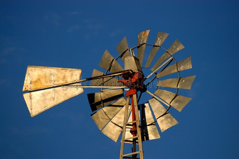 sunlit windmill fotografering för bildbyråer