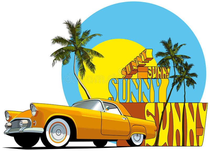Sunny. Vectorial composition on on the theme of summer