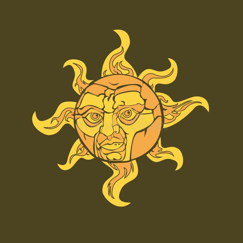 Sunny royalty free illustration