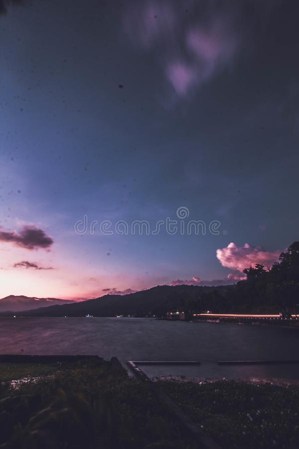 Lake Singkarak west sumatera. Sunny afternoon in the banks lake singkarak, Indonesia royalty free stock photography