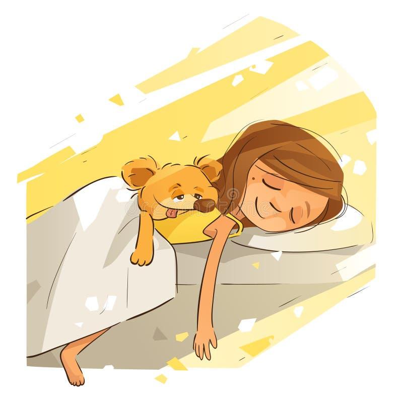 Sunny Afternoon Nap vektor illustrationer