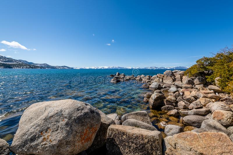 Sunny Afternoon from Sand Harbor stock image