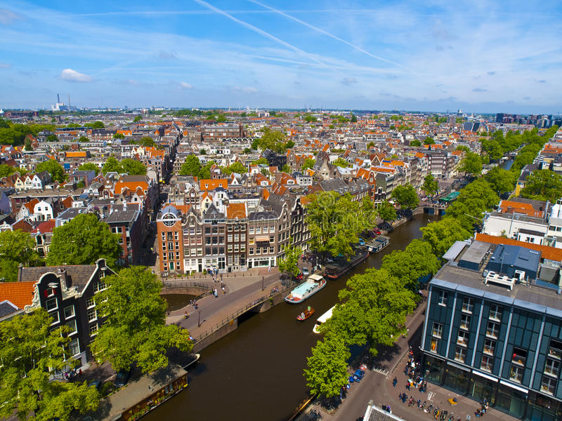 Sunny Amsterdam royalty free stock photos