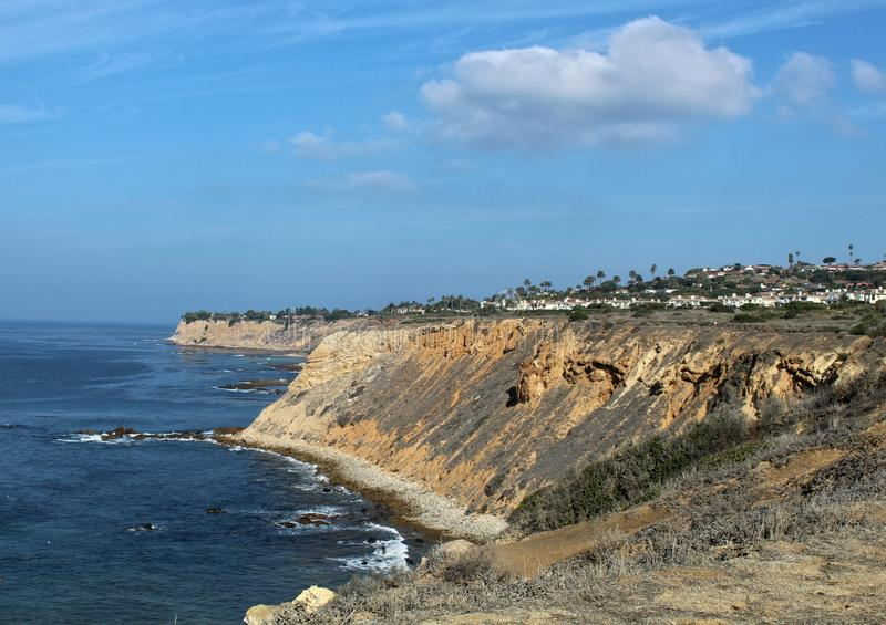 Sunny Autumn Day sur Palos Verdes Peninsula, le comté de Los Angeles, la Californie photographie stock libre de droits