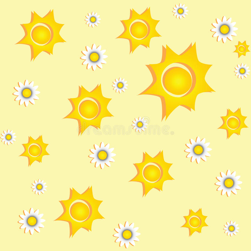 Download Sunny Background With Daisies Royalty Free Stock Images - Image: 20104169