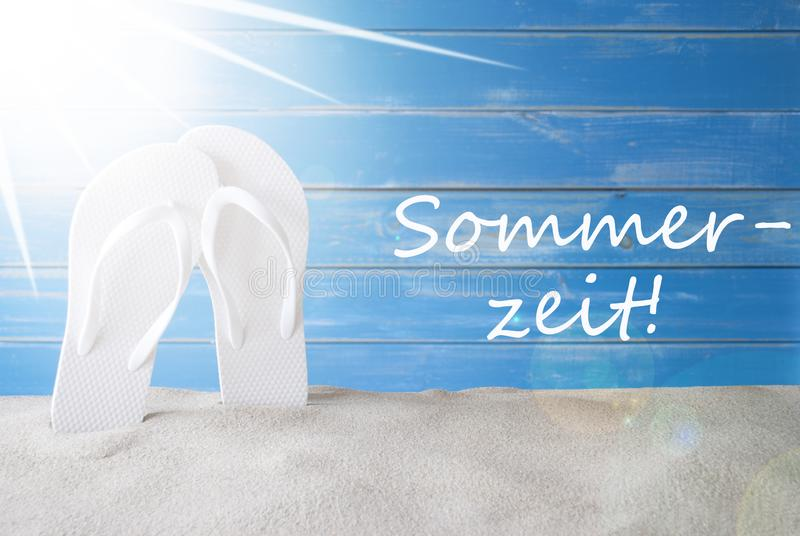 Sunny Background, German Sommerzeit Means Summer Time stock photography