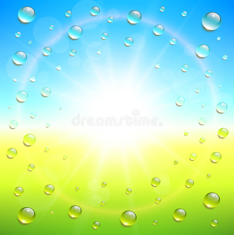 Download Sunny background stock vector. Illustration of drops - 43134934