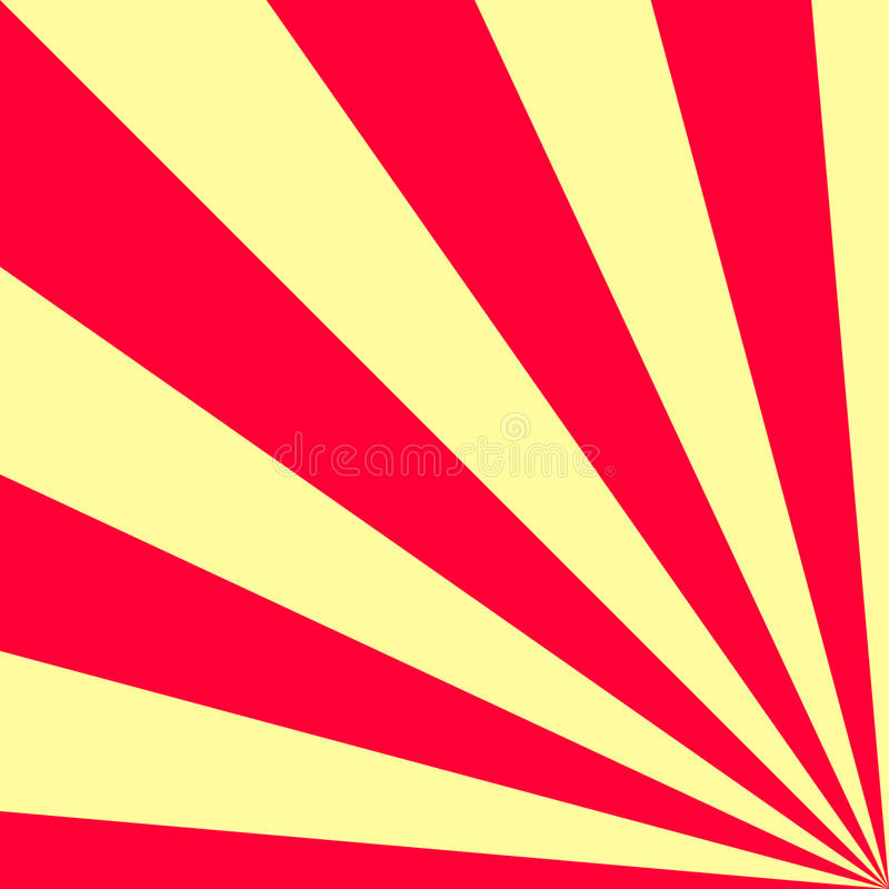 Sunny background. Yellow and red color. Vector illustration. Good design royalty free illustration