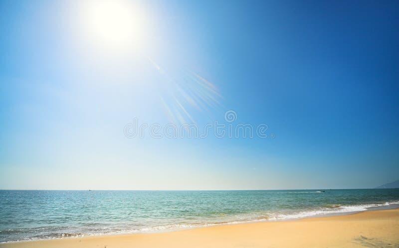 Sunny beach stock image