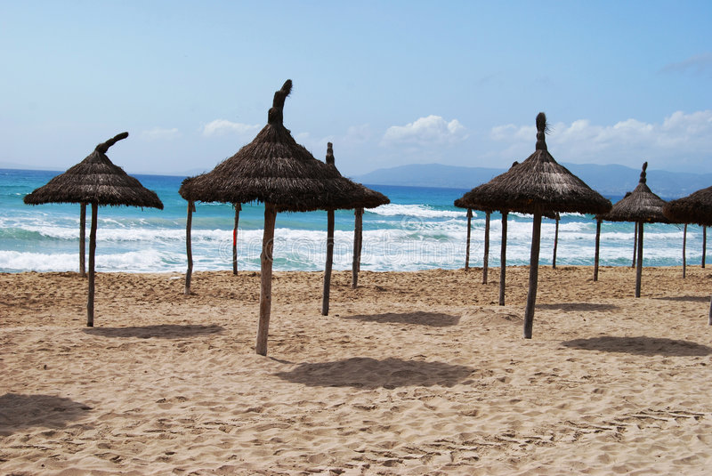 Download Sunny beach stock photo. Image of leisure, platja, exotic - 4925036