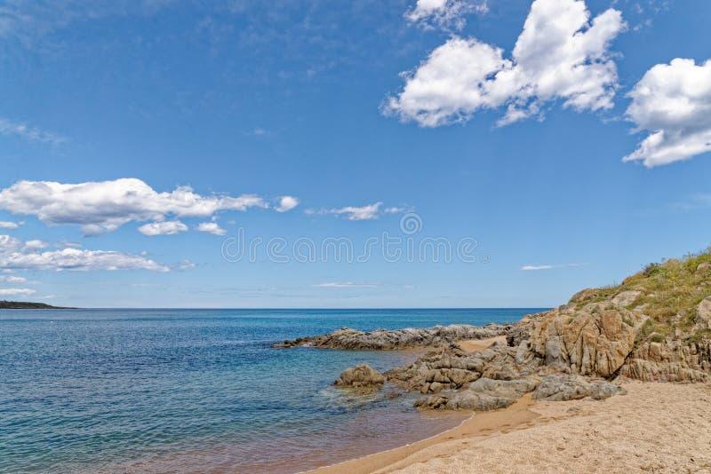 Sunny Beach - Bari Sardo - Italy. Sunny Beach - Bari Sardo, Ogliastra Province, Sardinia, Italy  - Photo taken on 19th of May 2019 stock photography