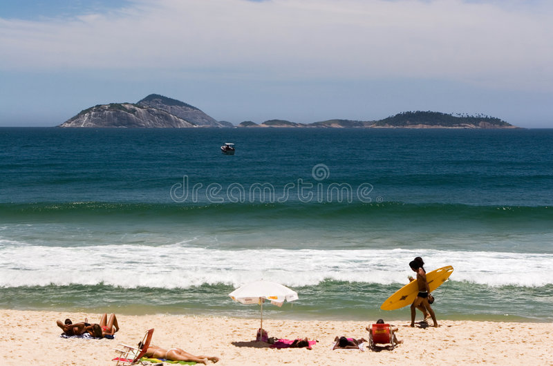 Sunny beach in Brazil stock photography