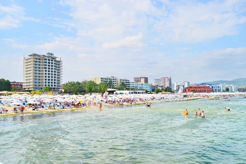 Sunny Beach Bulgaria imágenes de archivo libres de regalías