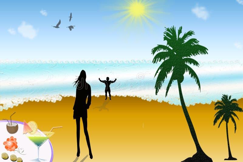 Download Sunny Beach Stock Illustration - Image: 40371915