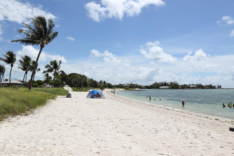 Sunny beach, Marathon, Florida stock photo