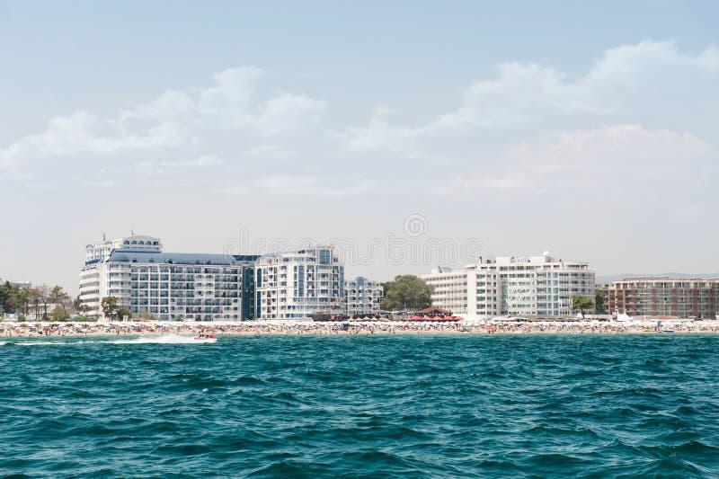 Sunny beach resort in Bulgaria royalty free stock images