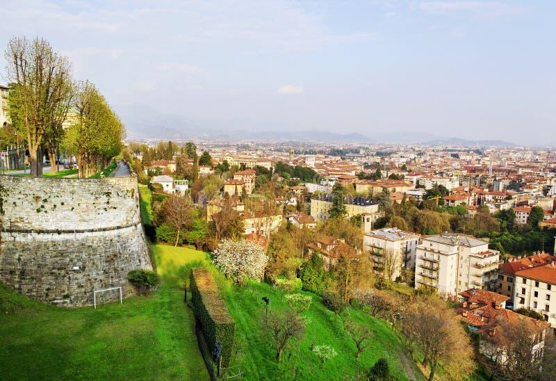 Sunny Bergamo. royalty free stock images