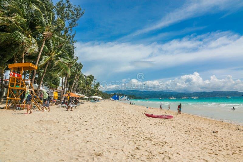 Sunny Boracay Beach stockfoto