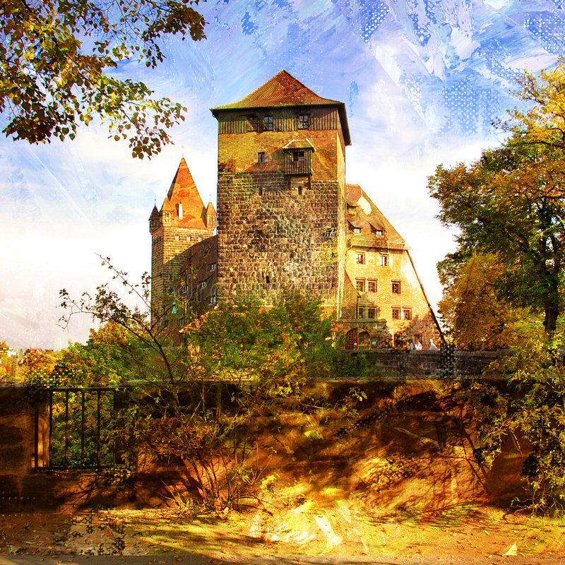 Sunny castle royalty free stock image