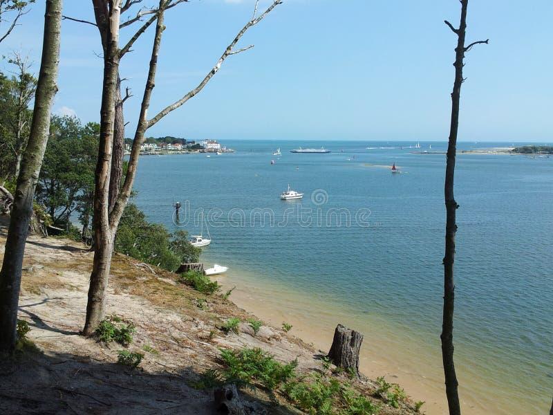 Sunny coast and beach royalty free stock photos