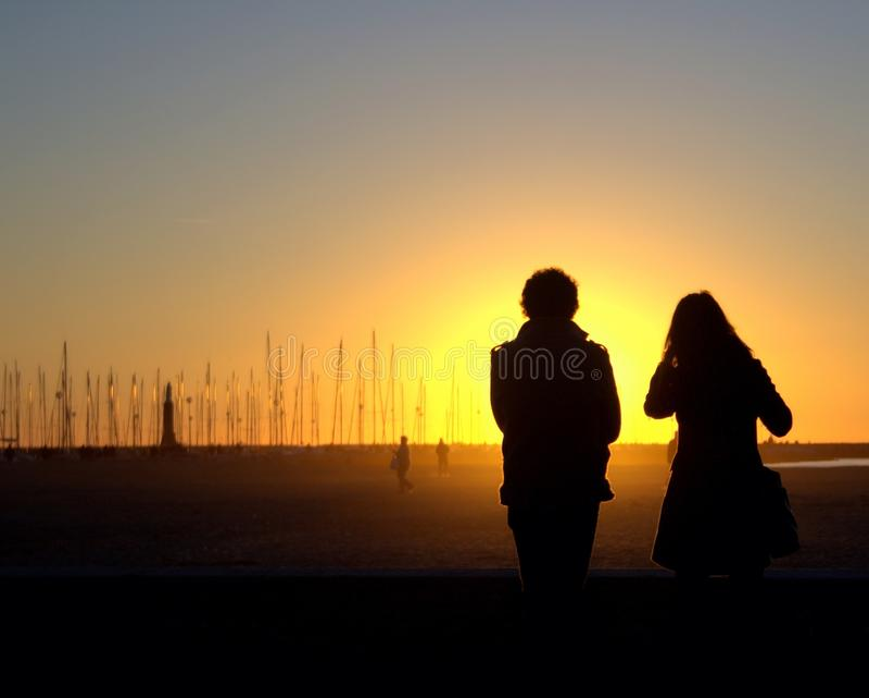 Sunny couple stock photos