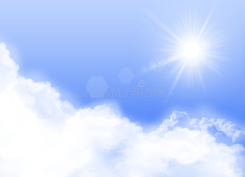 Download Sunny Day stock illustration. Image of clouds, flare, sunshine - 3790272