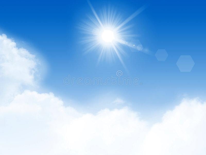 Download Sunny Day stock illustration. Image of flare, beautiful - 3932311