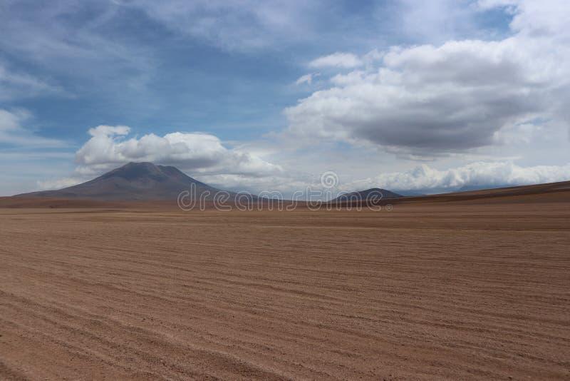 Sunny Day At The Atacama-Woestijn Bolivië royalty-vrije stock afbeelding