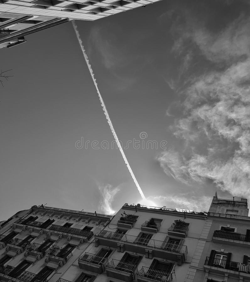 Sky in Barcelona stock images