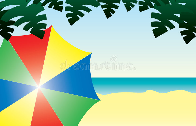 Download Sunny Day at the Beach stock vector. Image of yellow, vector - 2515450
