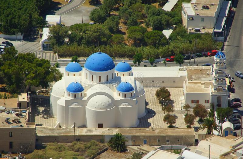 A sunny day and the church of Timiou Stavro royalty free stock images