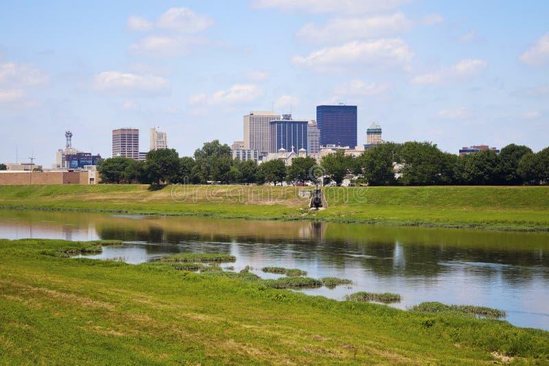 Sunny day in Dayton. Dayton, Ohio, USA royalty free stock photos