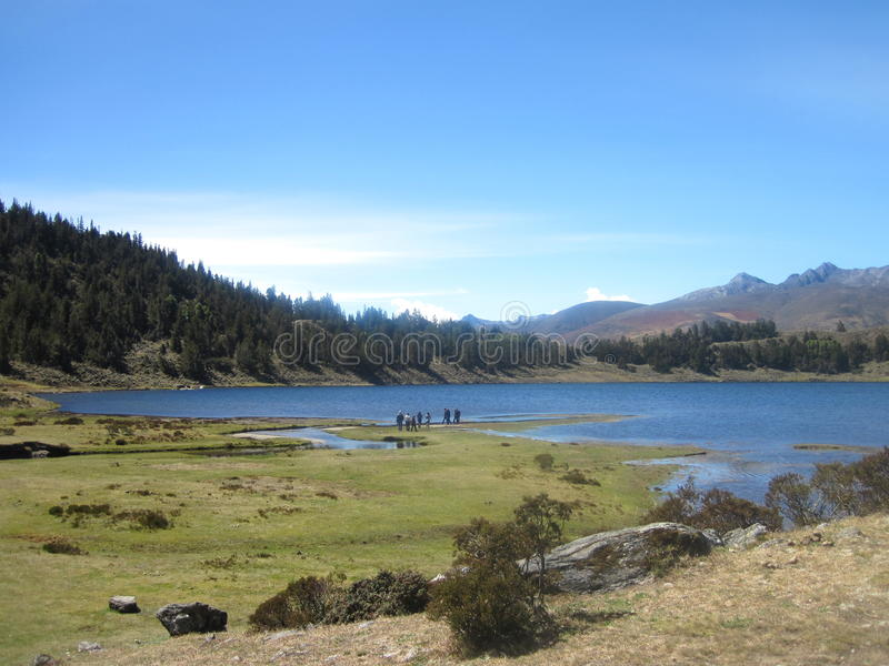 Sunny Day in de Andes royalty-vrije stock afbeeldingen
