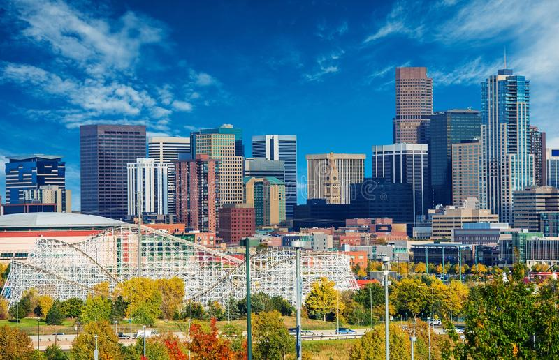 Sunny Day in Denver Colorado stock image