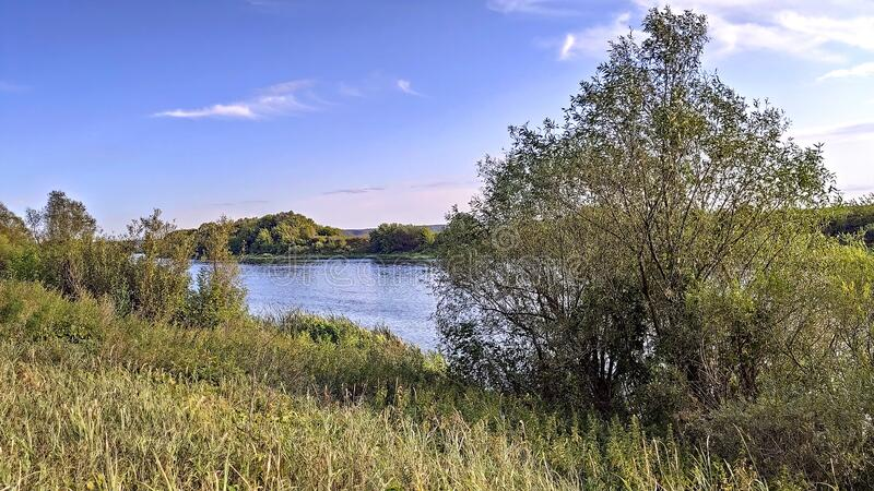 Sunny day on the Don river royalty free stock images