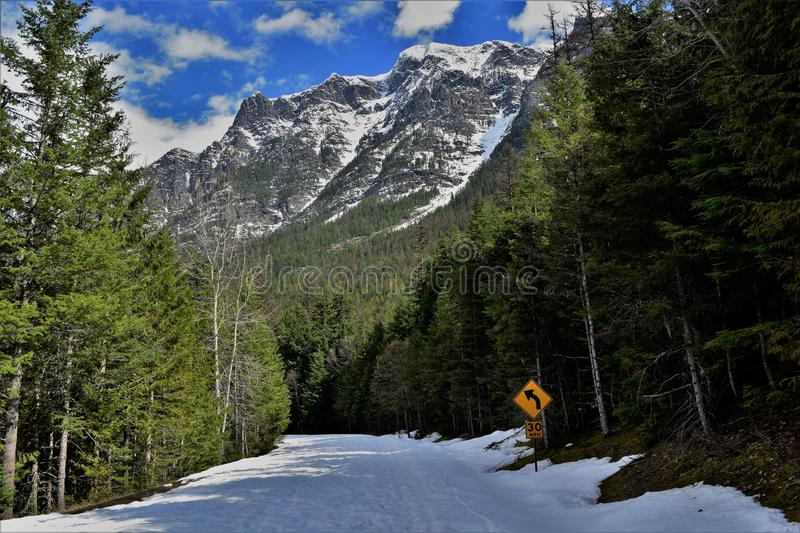 Sunny day on going to the sun road stock images