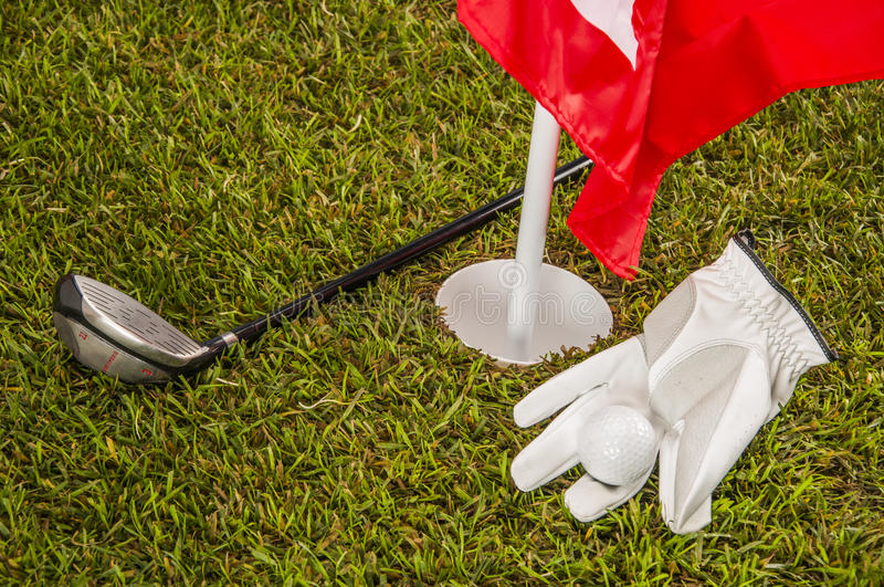 Sunny Day On Golf Field Stock Photography