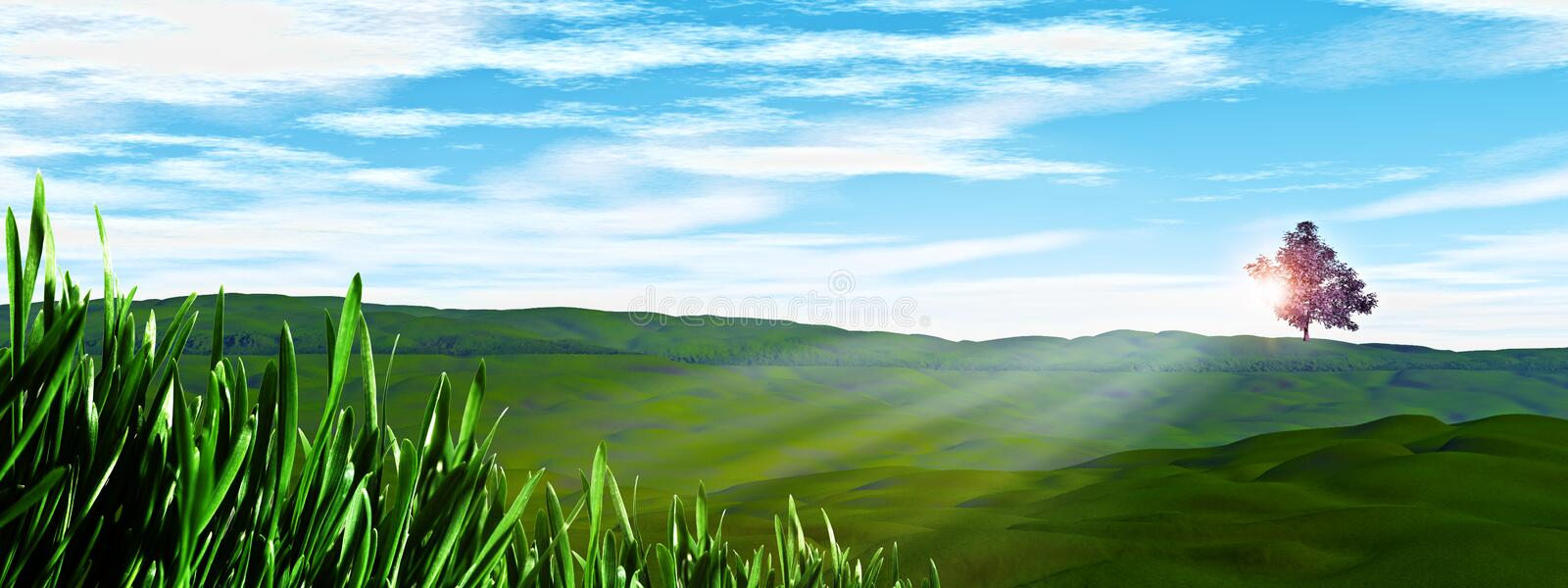 Sunny Day On The Hills. Royalty Free Stock Images