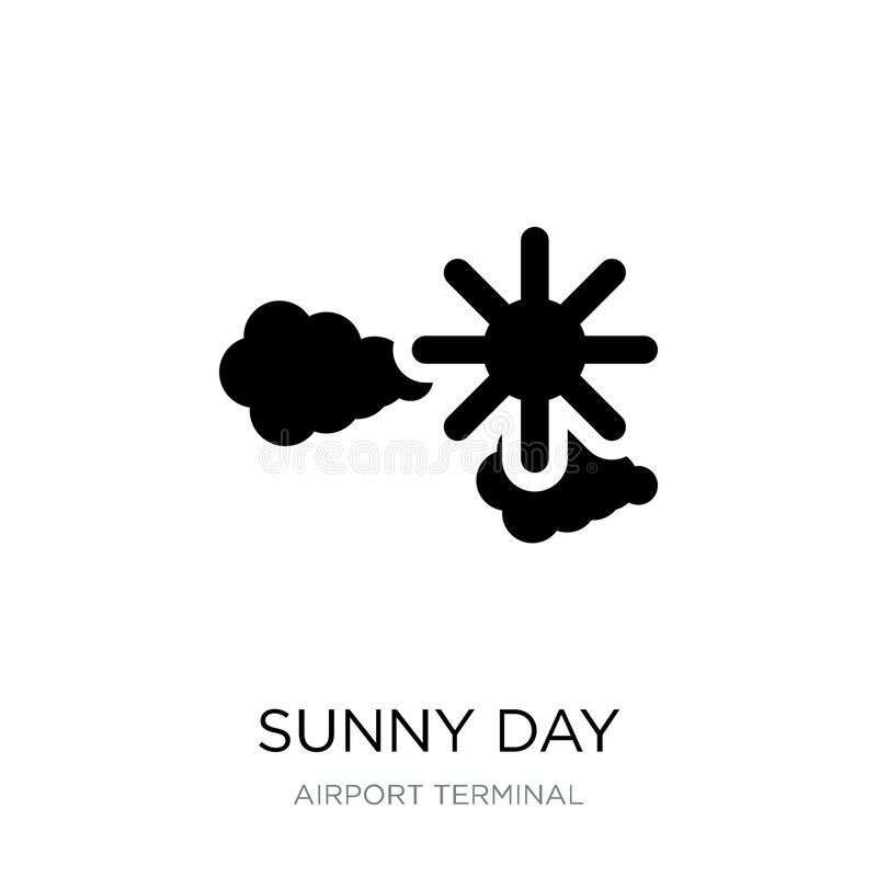 Sunny day icon in trendy design style. sunny day icon isolated on white background. sunny day vector icon simple and modern flat. Symbol for web site, mobile stock illustration